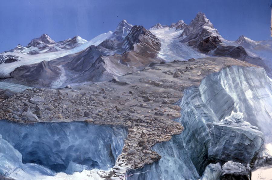 Glacier mural