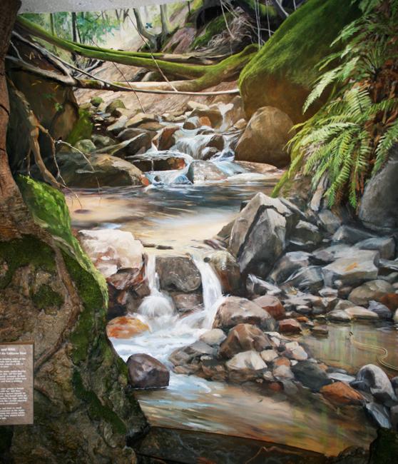 Stream mural as installed