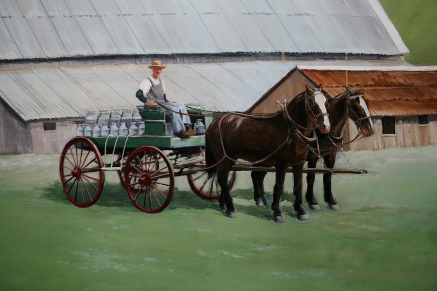 Tilden dairy mural