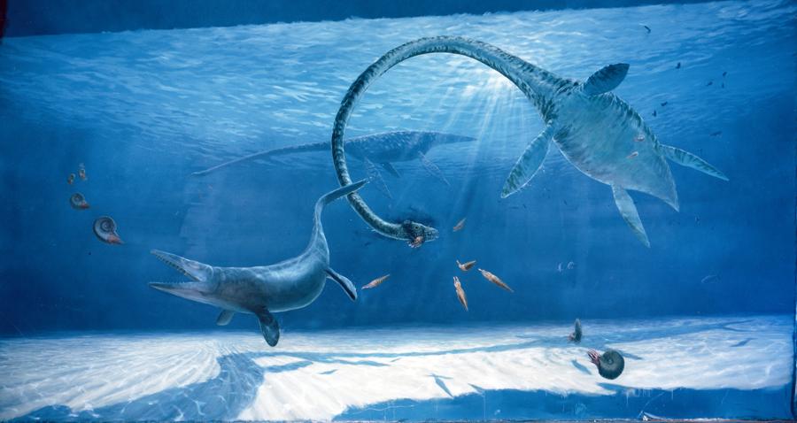 Prehistoric seas