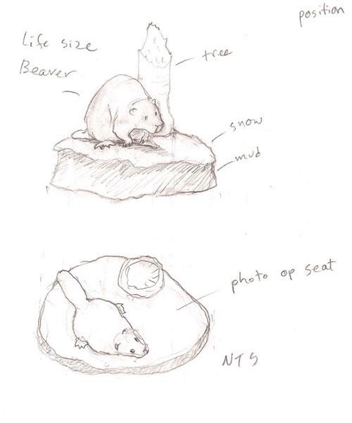 Sketch of beaver model