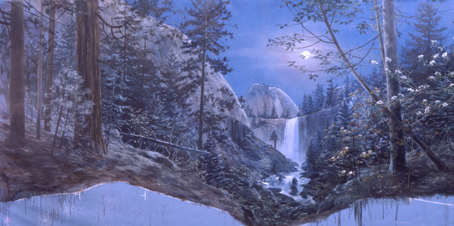 Noctournal mural that is in the Happy Isles Visitor's Center, Yosemite