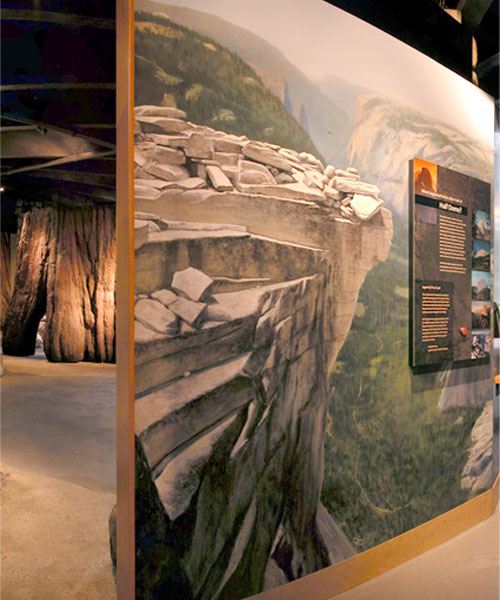 Half Dome painting as shown in the exhibit installation.