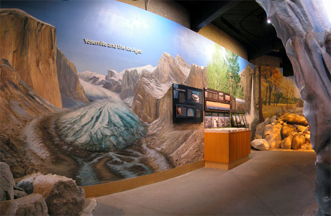 Full view of Ice Age mural within installation.