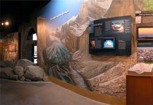 Another view of the Ice Age Mural